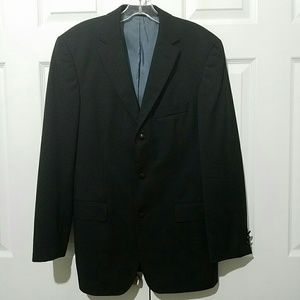 Hugo Boss Men's 3 Button Wool Blazer Black 38R